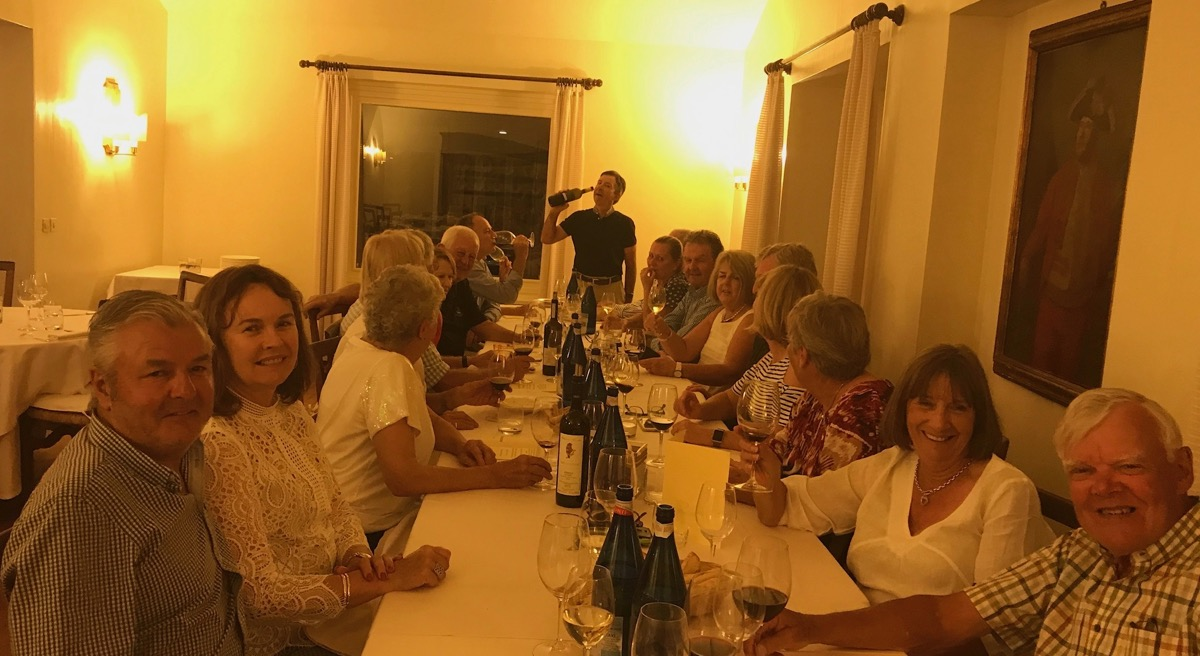 Biella dinner- group photo