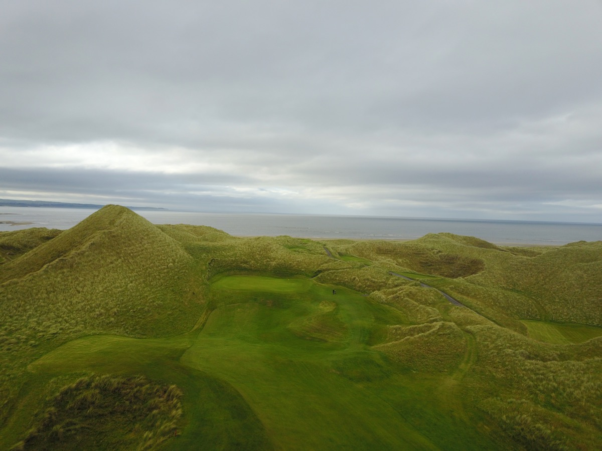 Enniscrone GC- hole 12 drone