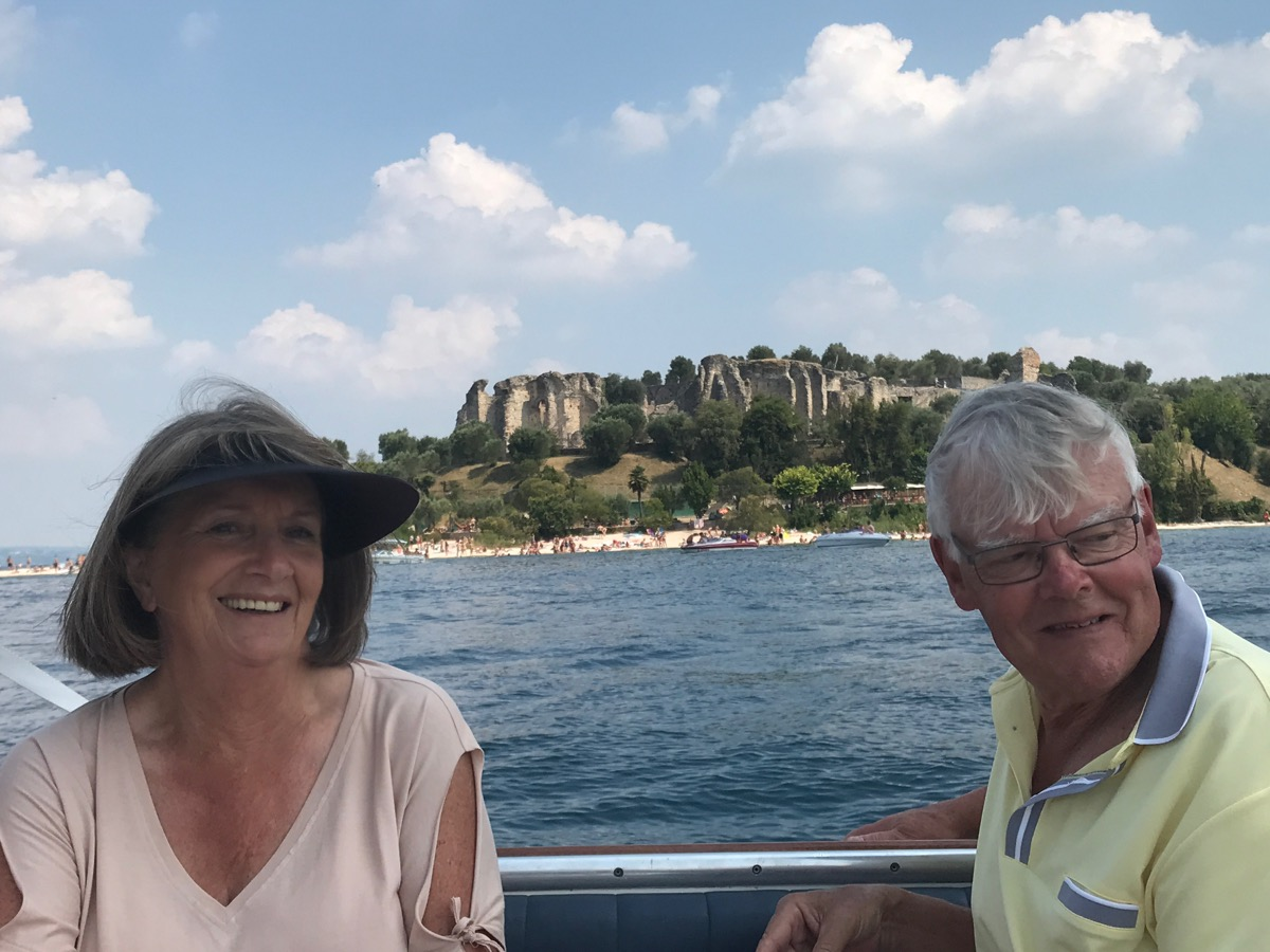 Gina  & Gary enjoy the Sirmione Cruise on Lake Garda
