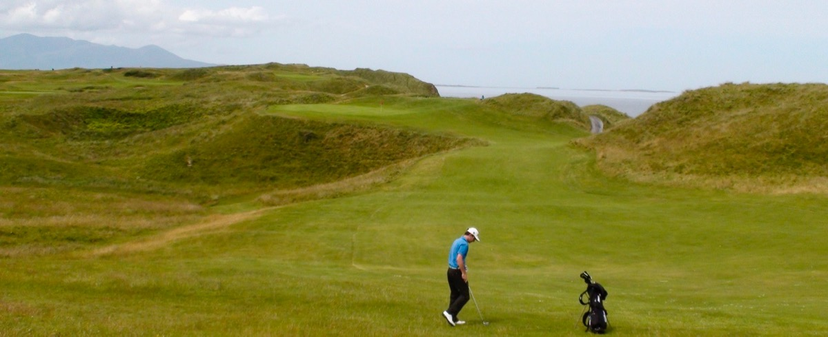 Tralee Golf Links- the approach to hole 12