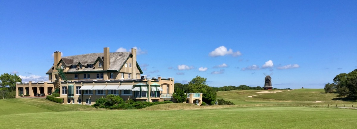National Golf Links- clubhouse & windmill