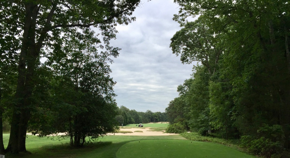 Pine Valley- hole 7 tee shot
