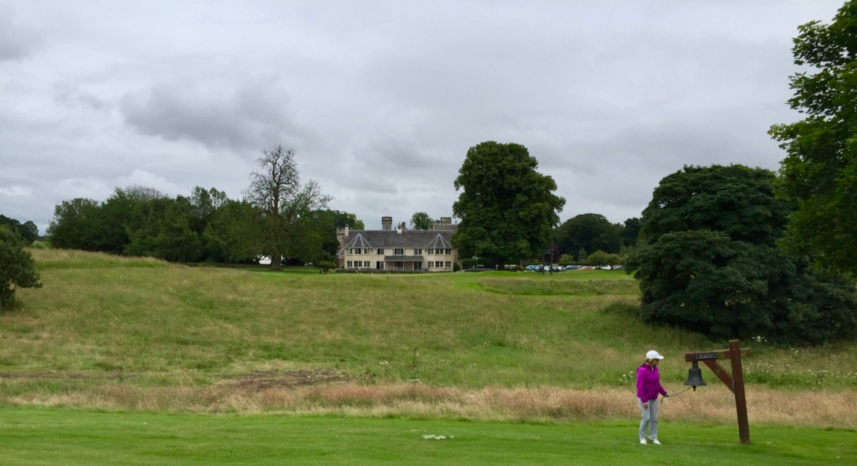 Roxburghe Hotel & Golf course- hole 12, bell & hotel
