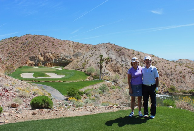 Directors Heather and Peter Wood at Cascata GC